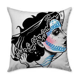 Drew Nautical Shark Throw Pillow