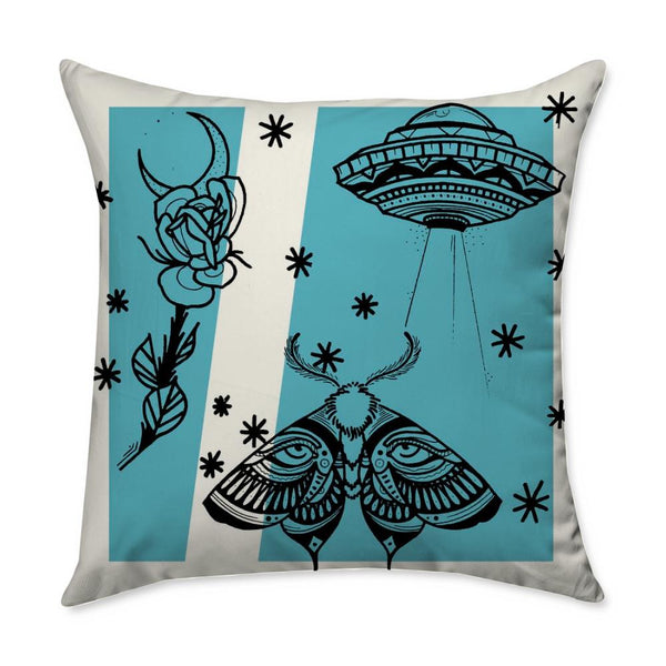 Aldridge Moth Throw Pillow
