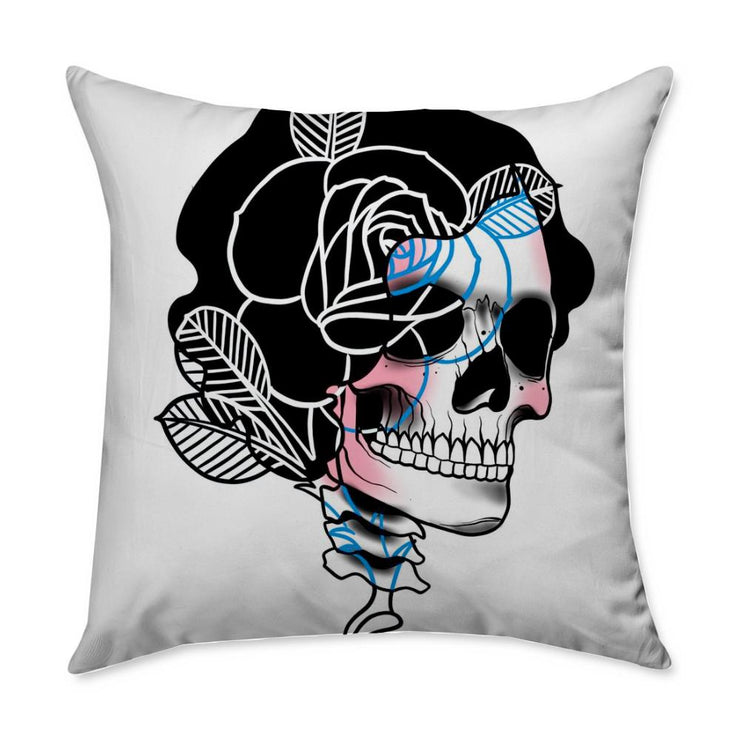 Drew Skull Throw Pillow