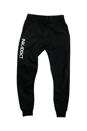 InkAddict Men's Black Fleece Joggers