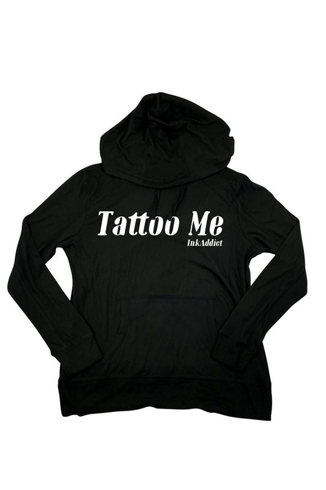Tattoo Me Women's Cutout Back Hoodie Sweatshirt