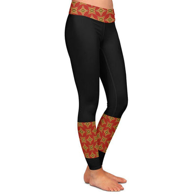 Olivia Vajra Red Womens Premium Leggings