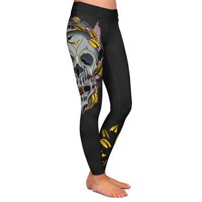 Chavez Skull Womens Premium Leggings