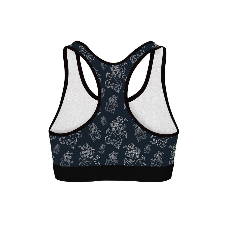 Timmy B Anchor Outline Womens Sports Bra
