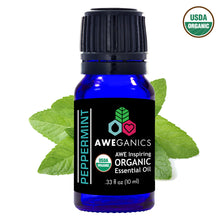 Peppermint Essential Oil, 10 mL, USDA Organic, 100% Pure & Natural Therapeutic Grade