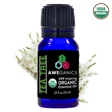 Aweganics USDA Organic Essential Oils for Cold & Cough, 3 Pack Oil Blends Aromatherapy Gift Set, 100% Pure, Natural, Cold & Sinus Relief, Eucalyptus, Frankincense, Tea Tree