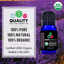 Lavender Essential Oil, 10 Ml, USDA Organic, 100% Pure & Natural Therapeutic Grade