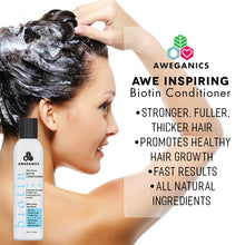 Aweganics Biotin Hair Growth Conditioner, AWE Inspiring Natural Thickening Volumizing Deep Conditioning Treatment for Hair Loss and Thinning Hair