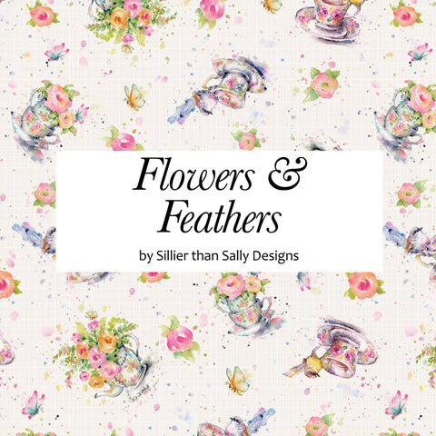 Flowers & Feathers by Sillier than Sally Designs