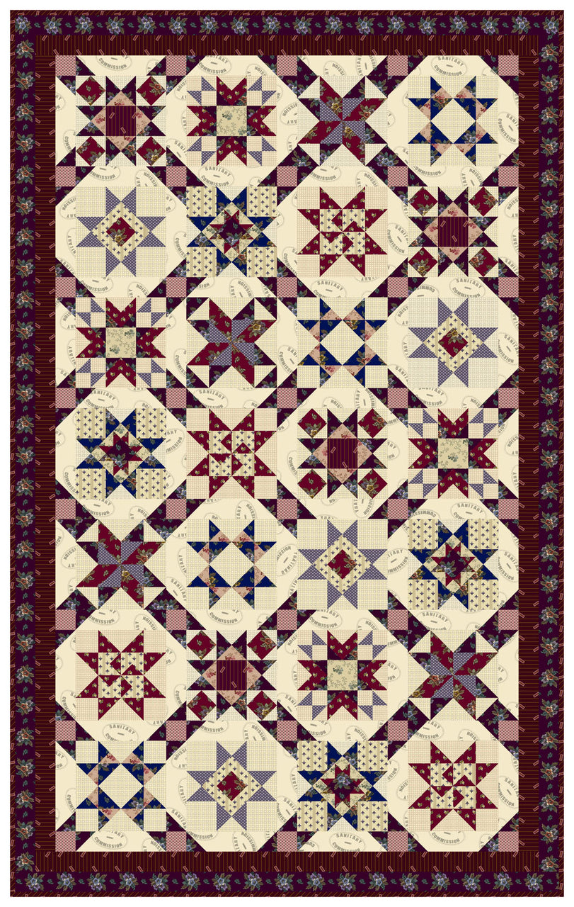 A Soldier's Quilt<br>by Toby Lischko<br>A Soldier's Quilt<br>Pattern for Purchase<br>Available Now!