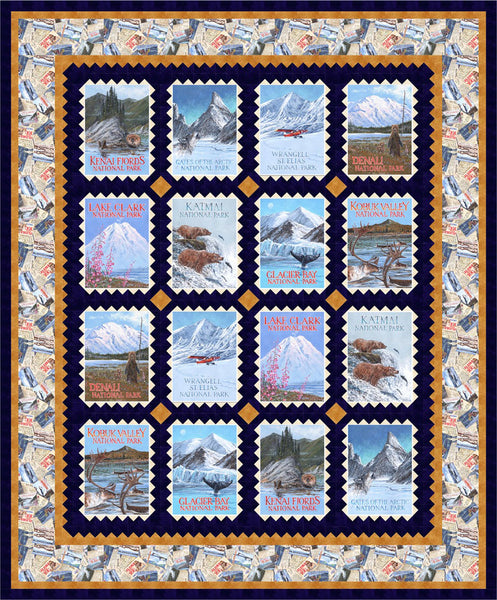 Alaska's National Parks #2<br>by Michelle McAnally<br>Pattern for Purchase<br>Available March 2019