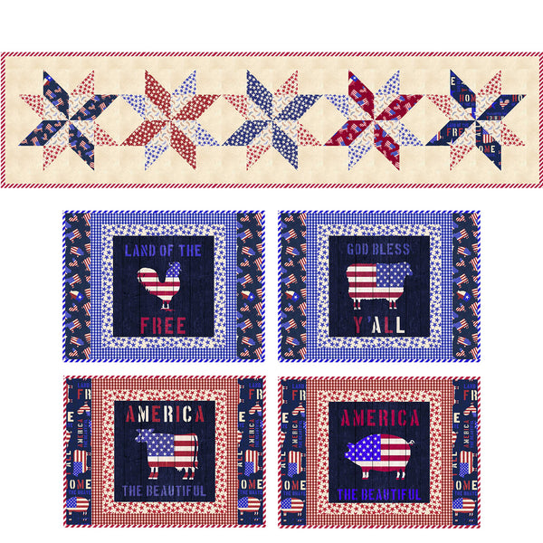 American Farm<br>Table Runner and Placemats by Stacey Day<br>Available August 2021.