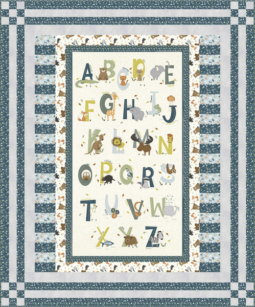 Animal Alphabet<br>Quilt by Stacey Day<br>Available April 2021.
