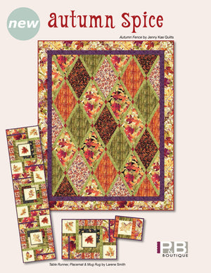 Autumn Fence<br>by Jenny Kae Quilts<br>Autumn Spice