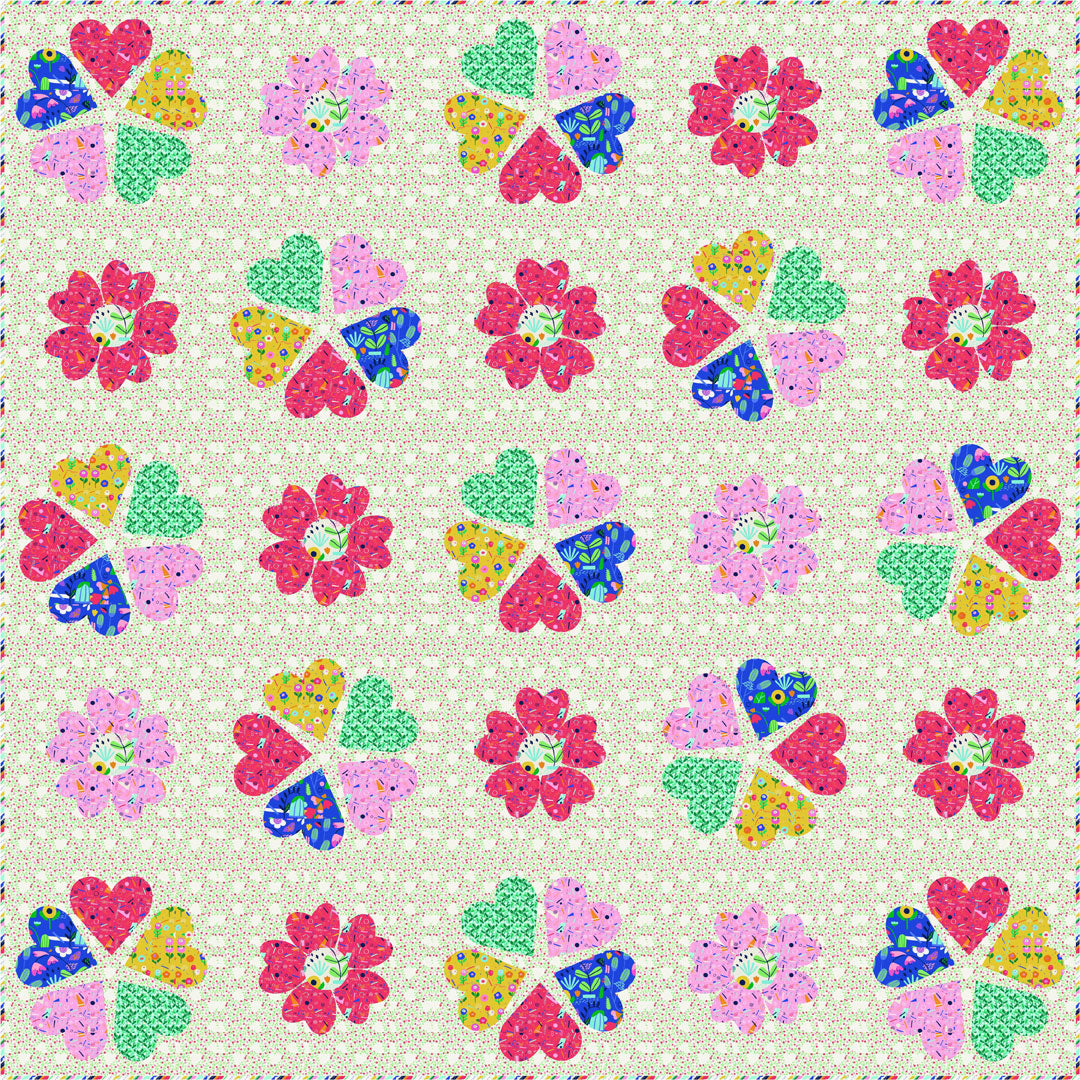 """Ayumi"" Free Spring Quilt Pattern designed by Stacey Day from P & B Textiles"