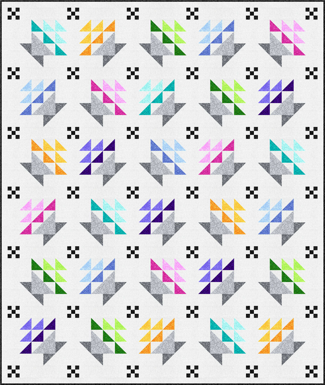 """Berry Baskets"" Free Spring Quilt Pattern designed by Stacey Day from P & B Textiles"