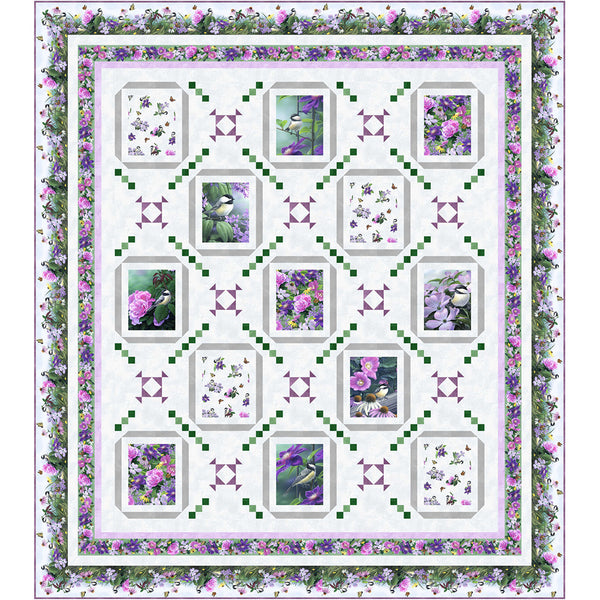 Chickadee Songs<br>Quilt by Wendy Sheppard<br>Available July 2021.