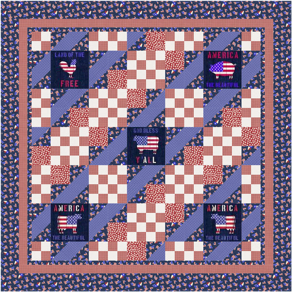 American Farm<br>Country Lanes Pattern for Purchase by Brenda Plaster<br>Available August 2021.