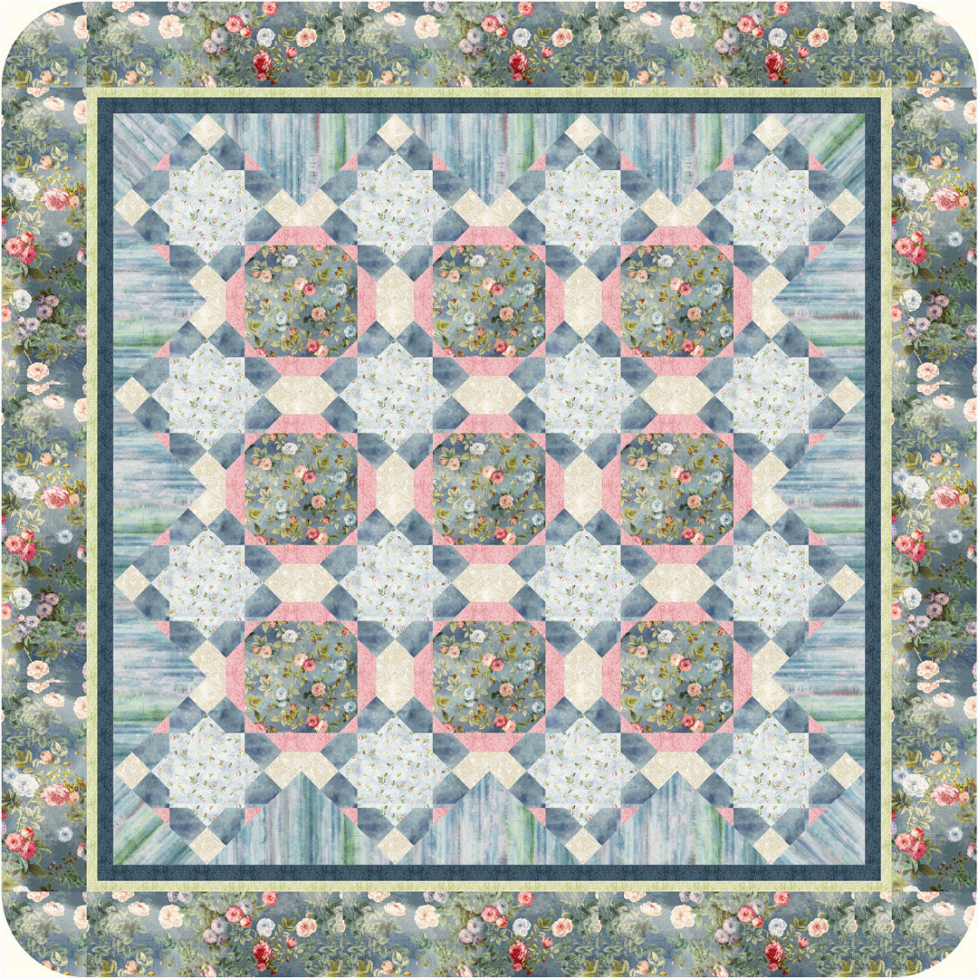 Daniella<br>Quilt by Cyndi Hershey<br>Available September 2021.