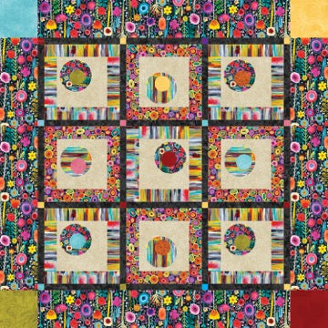 Floating Circles Quilt Pattern<br>by Debby Kratovil<br>PRINTEMPS