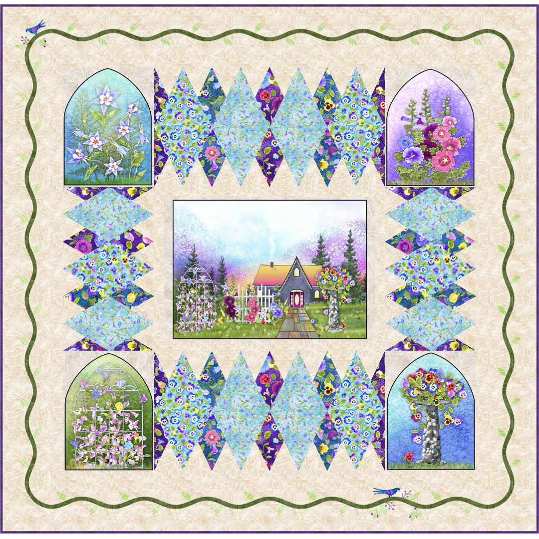 Garden Delight<br>Quilt by Stacey Day<br>Available June 2021.
