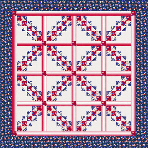 American Farm<br>Hometown Crossing Pattern for Purchase by Brenda Plaster<br>Available August 2021.