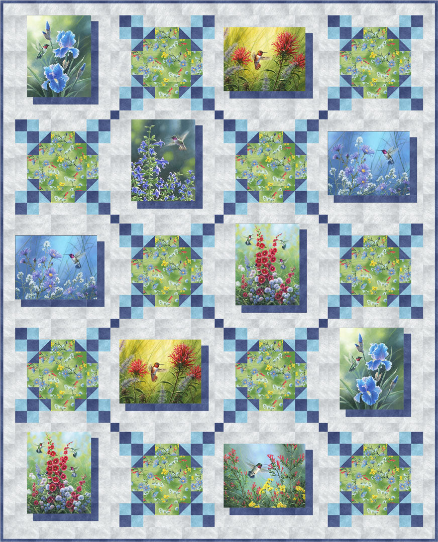 Hummingbird Quilt<br>by Gina Gempesaw<br>Available Now!