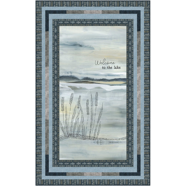Lake Escape<br>Quilt by Cyndi Hershey<br>Available August 2021.