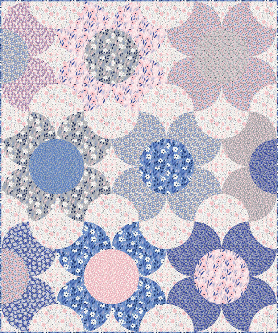 """Morning Glory/Meadow Lane"" Free Spring Quilt Pattern designed by Stacey Day from P & B Textiles"
