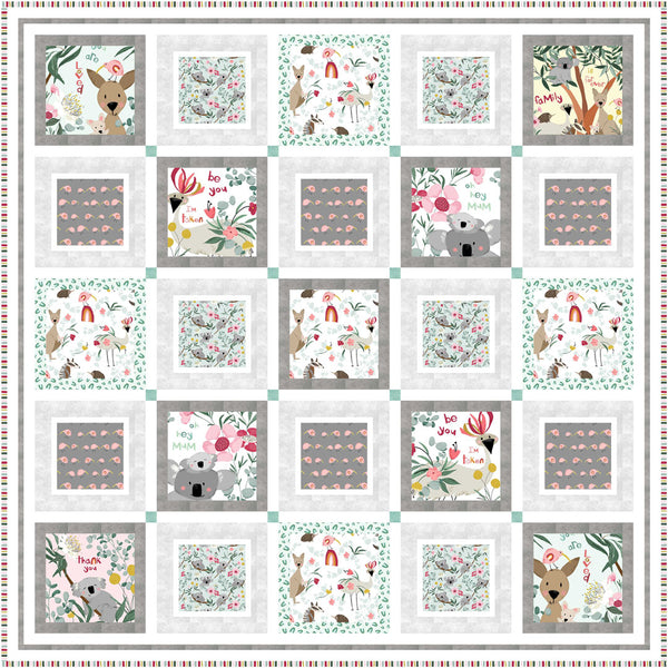 Aussie Friends<br>Quilt by Cyndi Hershey<br>Available Jan. 2021.