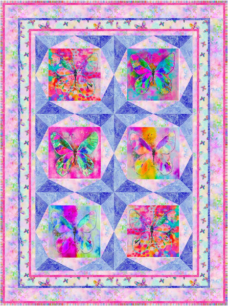 Butterfly Dreams<br>Quilt by Cyndi Hershey<br>Available Sept/Oct 2020.