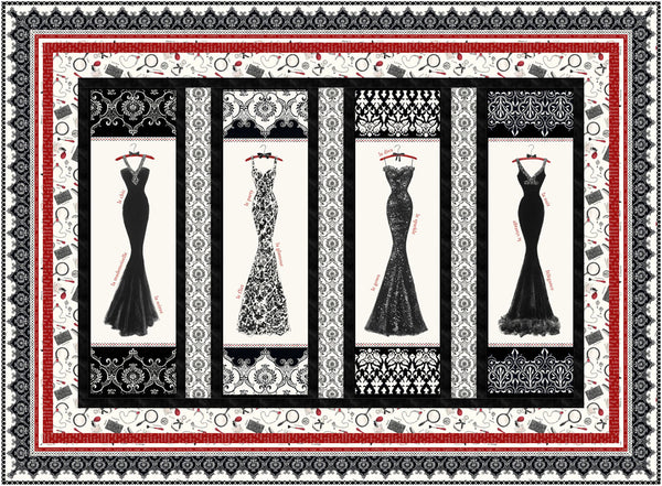 Couture Noir<br>Quilt by Gina Gempesaw<br>Available August 2020.