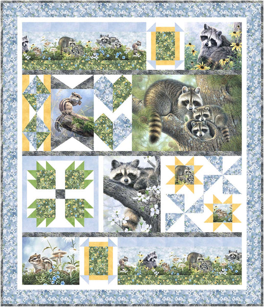 Forest Friends<br>Quilt by Denise Russell<br>Available Sept/Oct 2020.