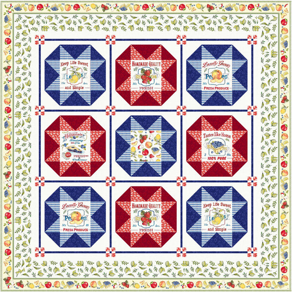 Fruit Stand<br>Quilt by Cyndi Hershey<br>Available Feb. 2021.