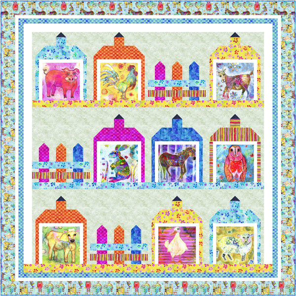 Living Farm<br>Quilt by Wendy Shepard<br>Available Jan. 2021.