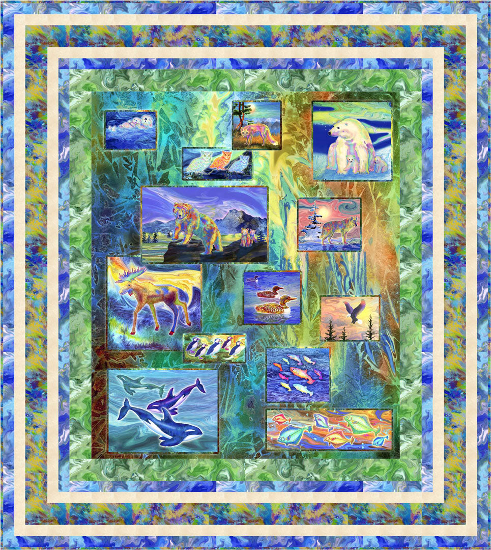 Magnificent Animals<br>Quilt by Stacey Day<br>Available Feb. 2021.