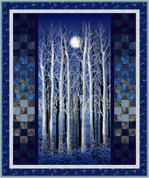 Midnight Woods<br>Quilt by Cyndi Hershey<br>Available Nov/Dec 2020.
