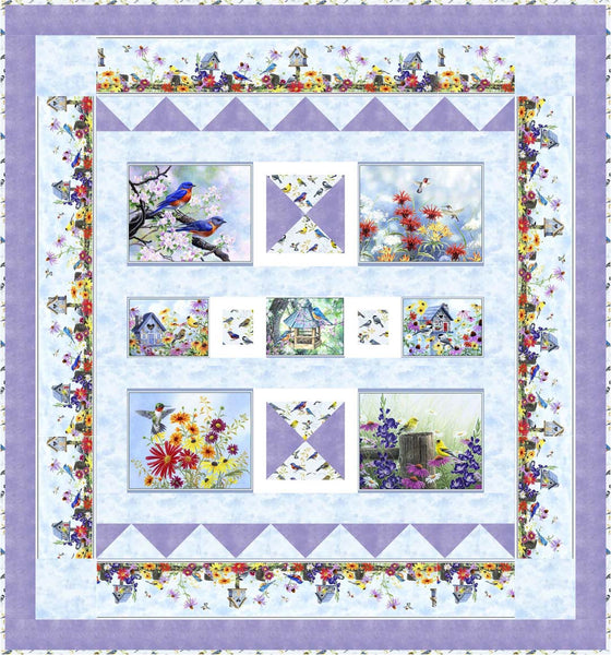 Song Birds<br>Quilt by Phyllis Dobbs<br>Available Sept/Oct 2020.