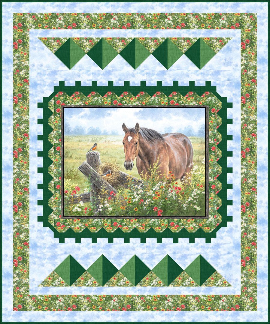 Pastoral Song Quilt<br>by Gina Gempesaw<br>Available Now!