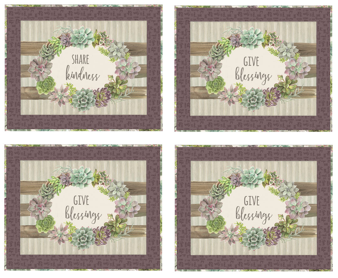 """Rustic Rosettes Placemats"" Free Pattern designed by P & B Boutique from P & B Textiles"