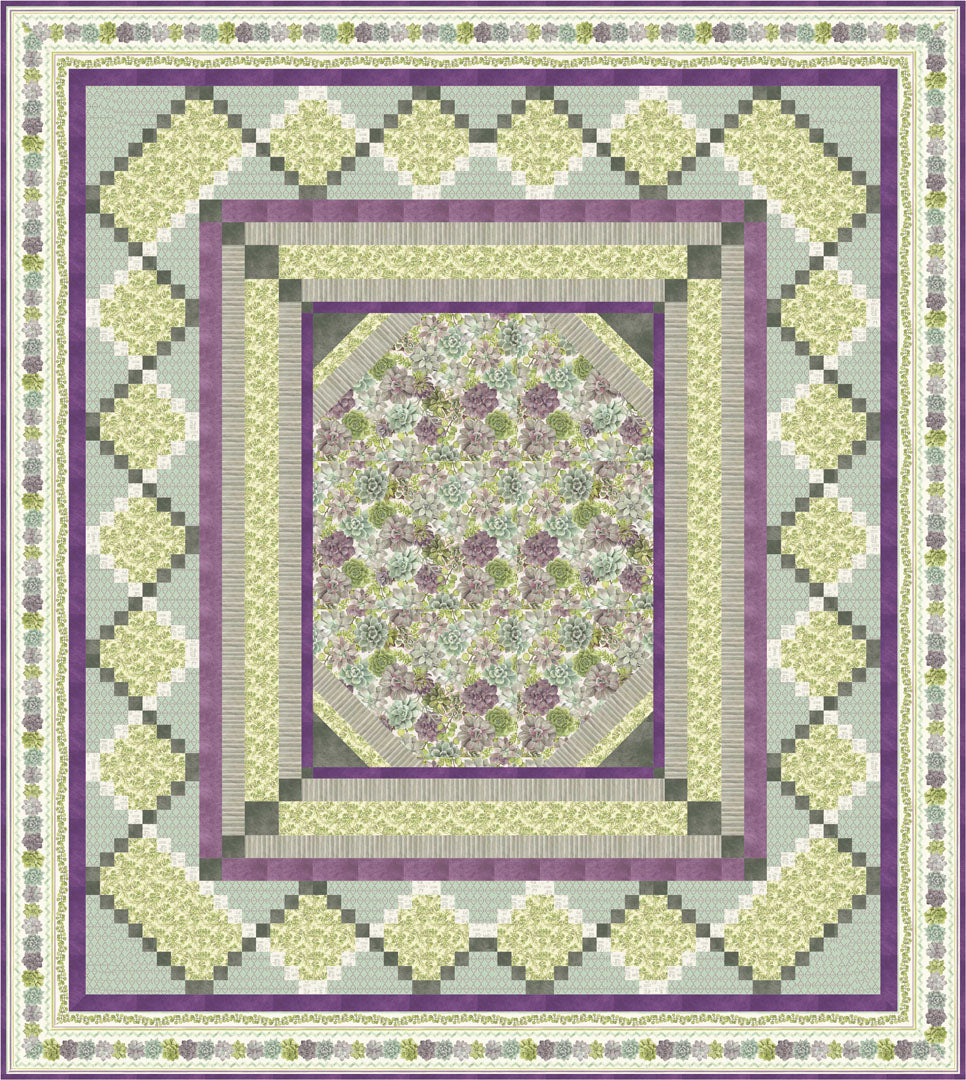 Rustic Rosettes Quilt & Pillow<br>by Cyndi Hershey<br>Available Now