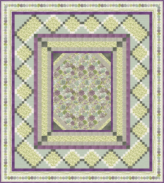 Rustic Rosettes Quilt & Pillow<br>by Cyndi Hershey<br>Available September 2019