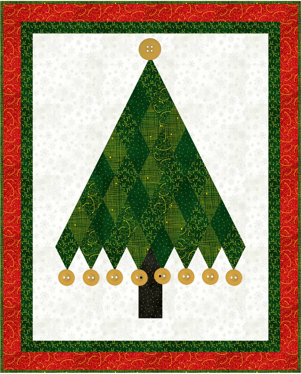 """""""Sparkle Suede"""" is a Free Christmas Quilt Pattern designed by Phyllis Dobbs from P & B Textiles"""