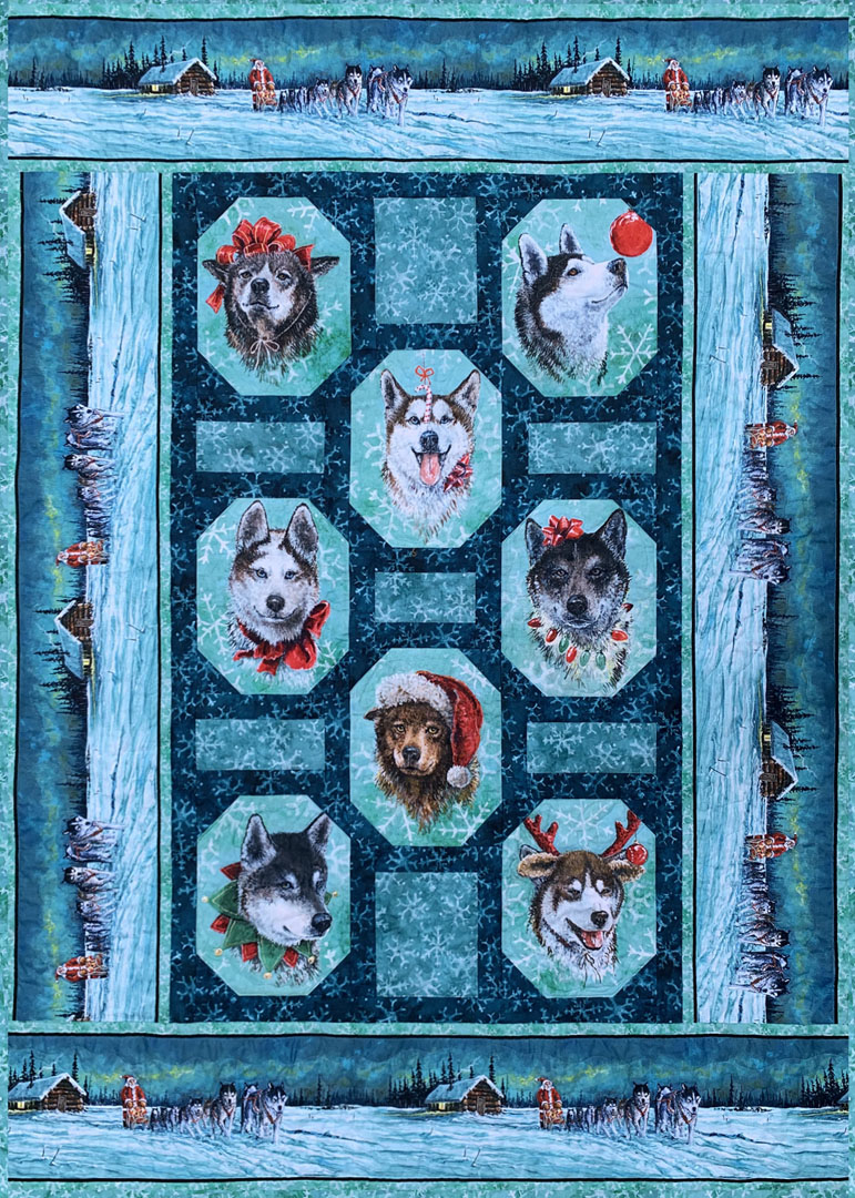 Santa's Siberians<br>by Lisa Moore<br>Pattern for Purchase<br>Available Now!