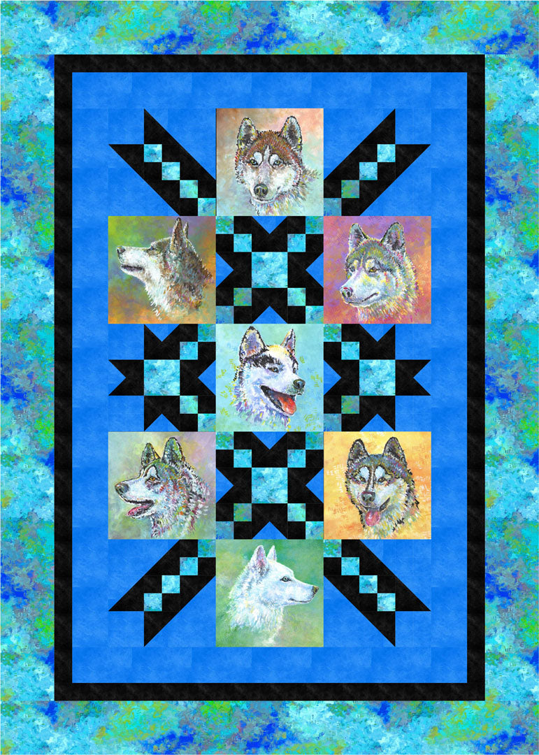 Silly Siberians Quilt #2<br>by Michelle McAnally<br>Pattern for Purchase<br>Available Now
