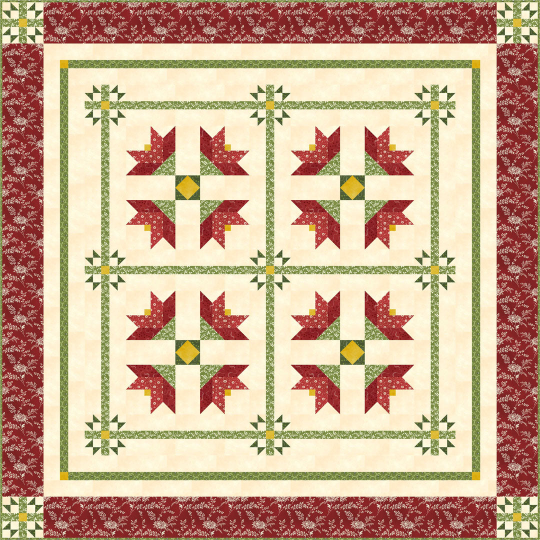 Temperance Christmas<br>by Cyndi Hershey<bR>Temperance Green & Red<br>Free Pattern<br>Available Now