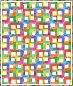 """Text Tiles"" Free Easy to Sew Quilt Pattern designed by Nancy Mahoney from P & B Textiles"