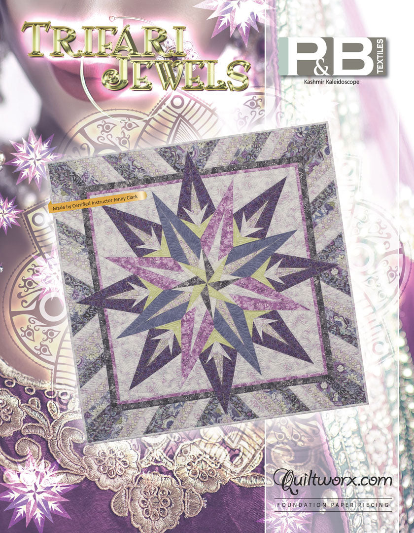 Kashmir Kaleidoscope <br>by Quiltworx<br>Pattern for Purchase<br>Available August 2020