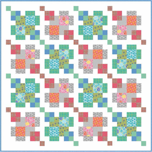 """Urban Puzzle Boxes"" Free Easy to Sew Quilt Pattern designed by Nancy Mahoney from P & B Textiles"