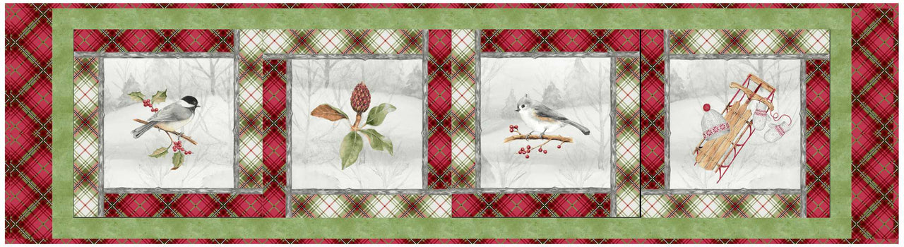 Winter Wonderland Table Runner & Placemats<br>by Toby Lischko<br>Available Mid June 2020.